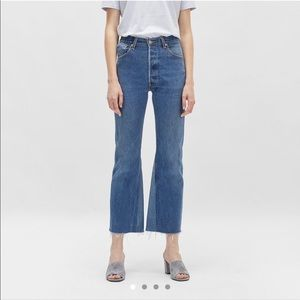 Re done re/done redone high rise crop flair jeans